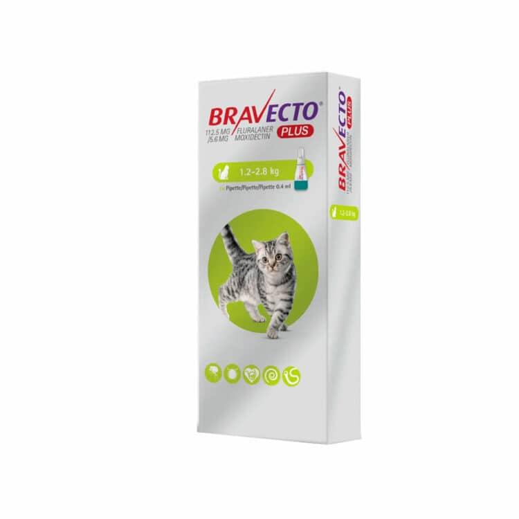 Bravecto Plus 112.5MG. ( 1.2KG - 2.8KG ) | Mascota Veloz