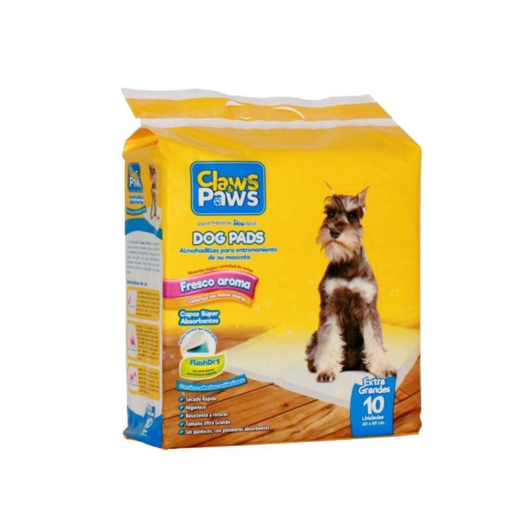 PAÑALES CLAWS & PAWS X 10 PADS