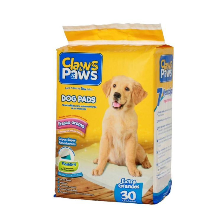 PAÑALES CLAWS & PAWS X 30 PADS