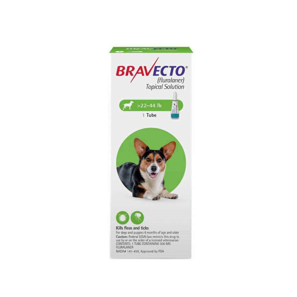 BRAVECTO 500mg. SPOT-ON DOGS ( 10Kg - 20Kg )
