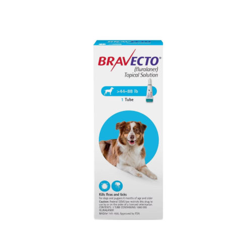 BRAVECTO 1000mg. SPOT-ON DOGS ( 20Kg - 40Kg )