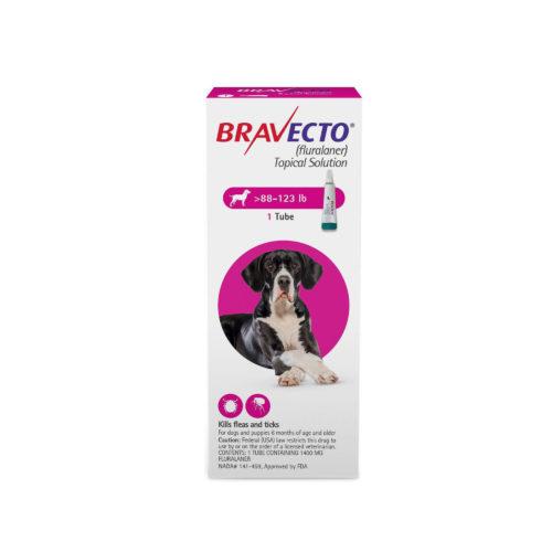 BRAVECTO 1400mg. SPOT-ON DOGS ( 40Kg - 56Kg )