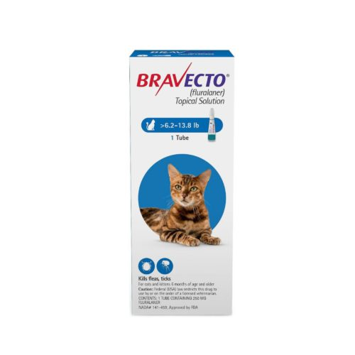 BRAVECTO 250mg. SPOT-ON CATS ( 2.8Kg - 6.25Kg )