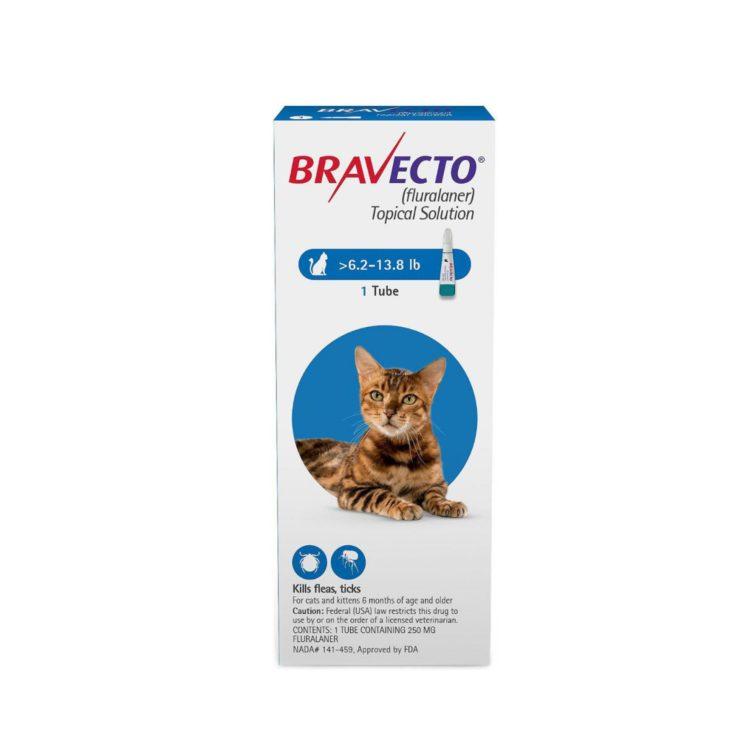 BRAVECTO 250mg. SPOT-ON CATS ( 2.8Kg - 6.25Kg )