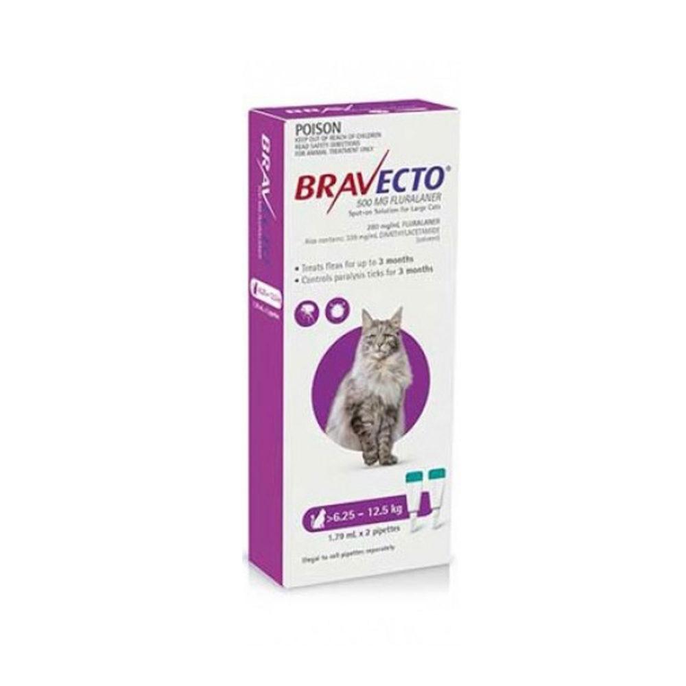 BRAVECTO 500mg. SPOT-ON CATS ( 6.25Kg - 12.5Kg )