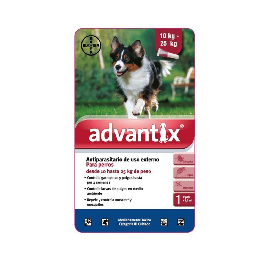 ADVANTIX 1 X 2.5 ML (10-25 KG) (ROJA)
