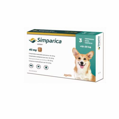 SIMPARICA 40MG X 1 TAB (10 A 20 KG)