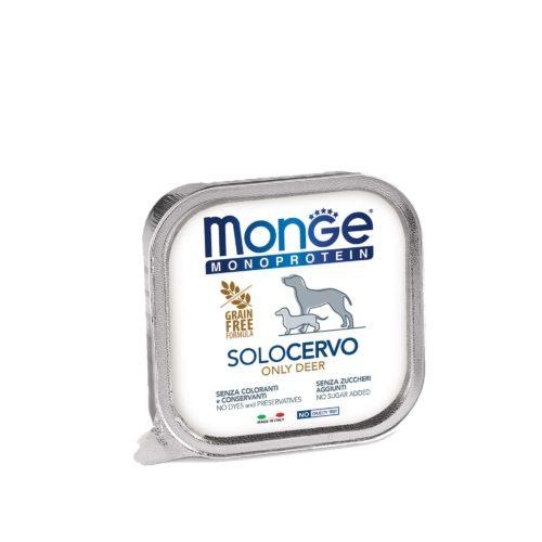 MONGE CANINE ADULT MONOPROTEIN CIERVO LATA