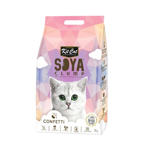 Kit Cat Soya clump Confetti   Mascota Veloz