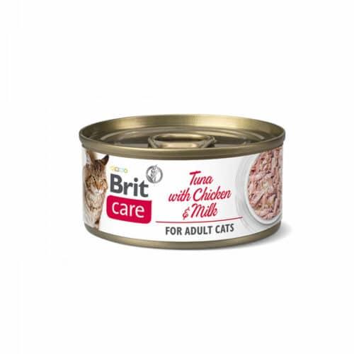 BRIT CARE CAT TUNA WITH CHICKEN AND MILK 70 GR