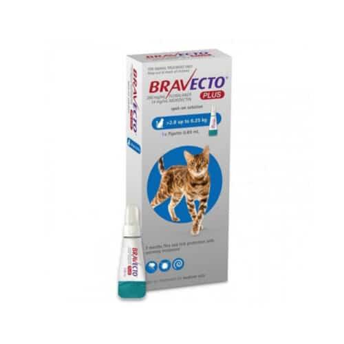 BRAVECTO PLUS 250mg.( 2.8Kg - 6.25Kg )   Mascota Veloz